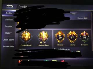 Mobile Legends Mythic Account