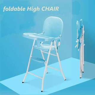 Foldable High Chair - BLUE
