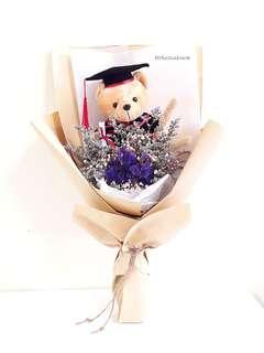 Dried Flower 🌼 Rustic Mix Graduation Bouquet