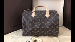 Louis Vuitton 💯 speedy monogram 30