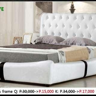 embossing love bed frame