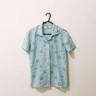 🚚 20 古著 雕花 簍空 透視感 夏日 涼爽 棉麻 上衣 短線襯衫