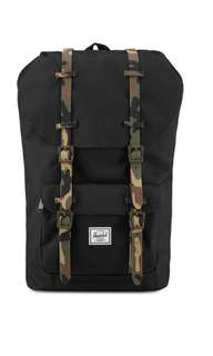 Herschel Supply Co. Little America Backpack Black/Woodland Camo Rubber