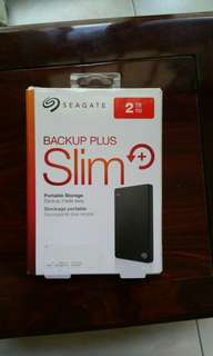 "Seagate Backup plus slim 2TB Brand New, never used, sealed. Seagate 2TB Portable HDD Hard Disk Drive Backup Plus 2.0 TB external 2.5"" Portable"