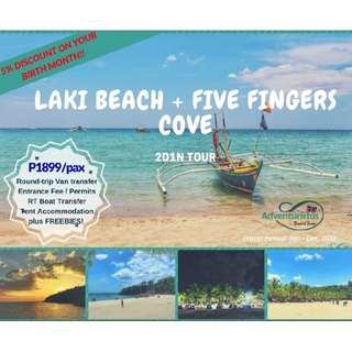 Laki Beach + Five Fingers 2D1N Tour