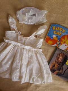 Christening Set (dress& hat) for baby girl