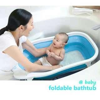 Foldable Baby Bath Tub - BLUE