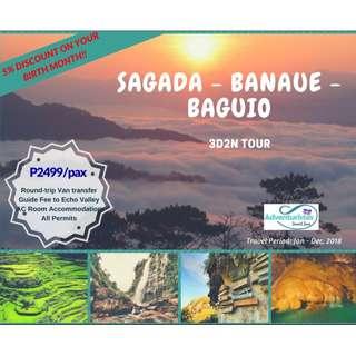 Sagada - Banaue - Baguio 3D2N Tour