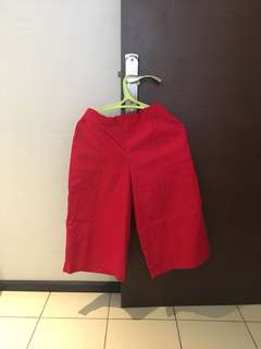 New beatrice clothing red culottes