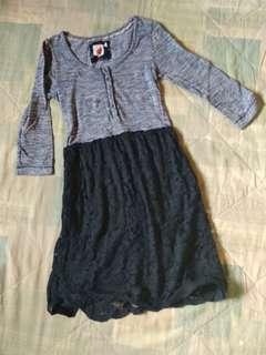 Stripes & Lace Dress
