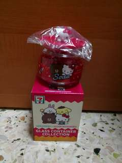7 eleven 3d hello kitty glass container