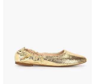 (REDUCED) Authentic Mango Golden Metallic Pump Shoes