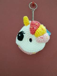 Crochet Unicorn Donut Ezlink Card Holder