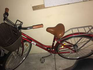 Retro/vintage red bike womens