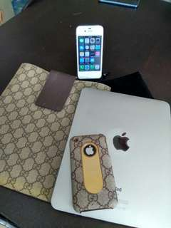 iphone 4s 16gb , iphone 3gs  32 gb  ipad 1  16 gb all functioning. All 3 items 998.00 . Authentic Gucci case 100% (Real ) guaranteed.