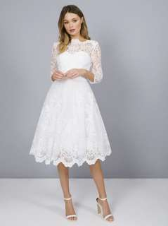 chi chi floral white lace dress