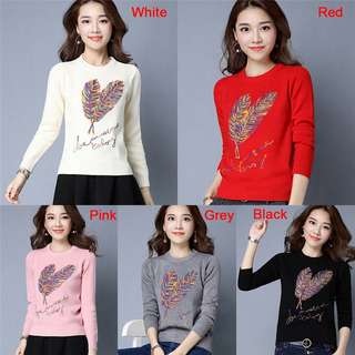 🚚 Hot Women Pullovers Casual Warm Long Sleeve Knitted Sweaters Pullover Sweaters