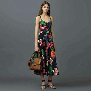💋Black Floral Maxi Dress