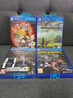 Ps4 Games new and sealed