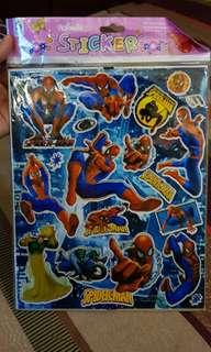 Stiker + puzzle spiderman