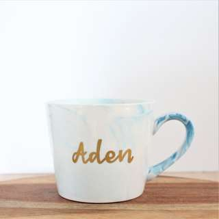 Customized Marble Coffee Mug - handcrafted