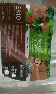 Free leftover gardens by the bay children festival magic pass
