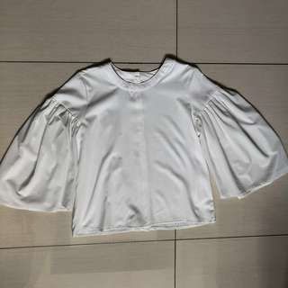R.A.F. By Plains and Prints white Wonju long sleeves top