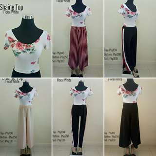 Shaine Set in Floral White