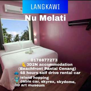 Langkawi 3D2N Stay & Explore Nu Melati (car rental, island hopping,cable car, 3D art museum)