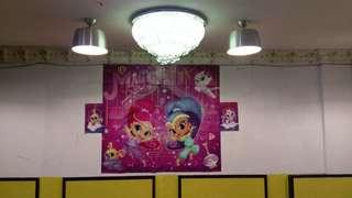 Shimmer and shine birthday banner