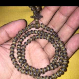 {FS138} 4mm vietnam Wild agarwood necklace