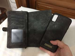 Casing wallet iphone x