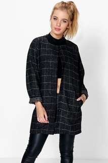 Grid Check Duster Coat