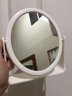 White Mumuso Oval Mirror