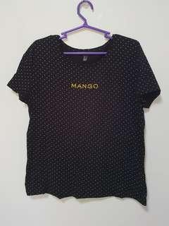 Mango Polka Shirt XL