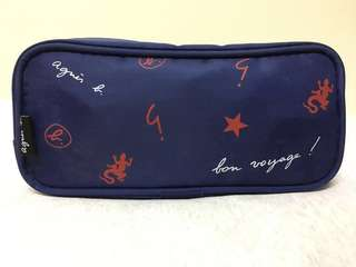 Agnes b x Cathay Pacific 化妝袋 Pouch / Makeup bag/ Amenity bag/ Travel bag