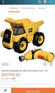 CAT Caterpillar Take-A-Part Toy Truck with Power Drill