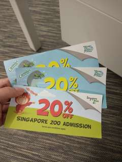 #blessing : vouchers for Singapore zoo and river safari