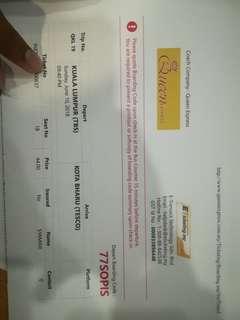 Tiket bas KUALA LUMPUR - KOTA BHARU