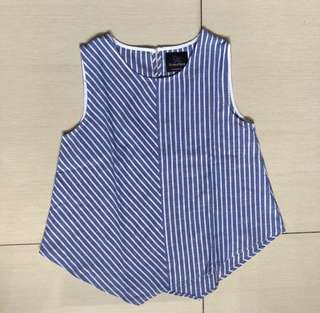 Plains and Prints Odonell striped sleeveless top