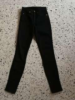 Nobody cult skinny jeans black 24 6