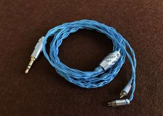 Gloryrain Aquarius OCC Pure Silver 2 pin IEM upgrade cable