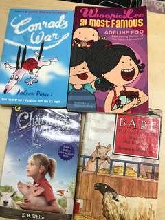 Children's books- charlotte's web etc X4 books
