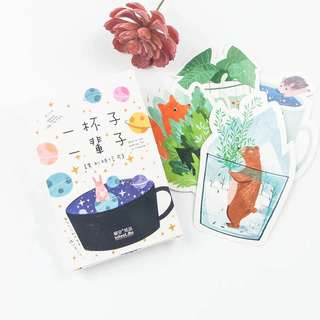 (Instock) Cup Animals Postcards