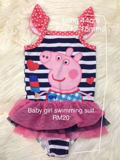 Peppa pig girl swimming suit