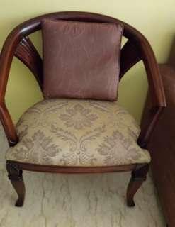 Teakwood wide chair