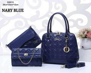 Dior Tote Bag 3 in 1 Blue Color