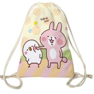日本kanahei卡娜赫拉束口袋抽繩背包