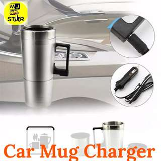 Stainless Car Mug Charger - Portable Gelas Mobil
