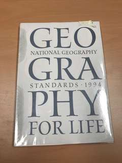 National geography standards 1994, geography for life